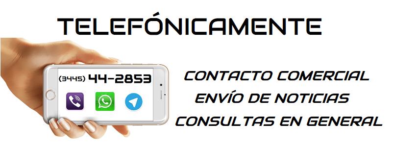 Contacto telefónico con Multimedios Villa Mantero (3445) 44-2853