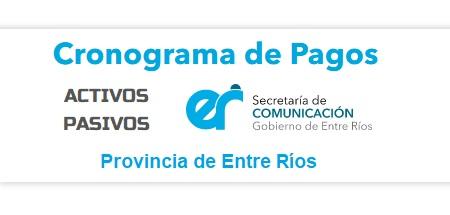 Cronograma de pagos Provincia de Entre Ríos