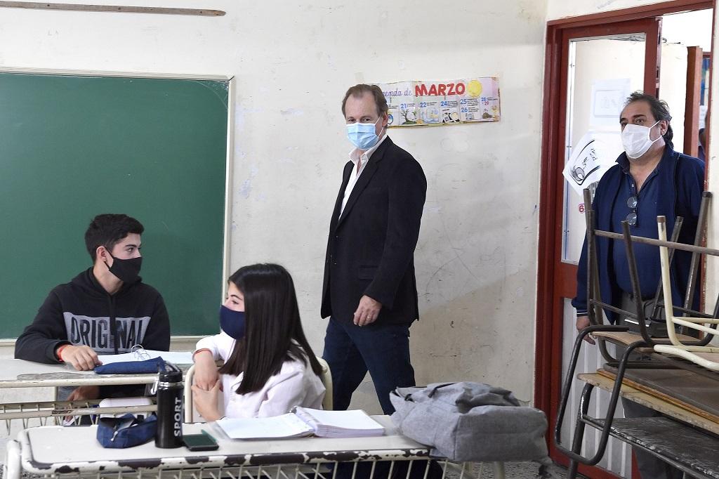 Bordet gestionó obras de infraestructura educativa ante Nación.